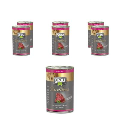 Sparpack! grau Excellence ADULT Pferd Pur | 6x400g