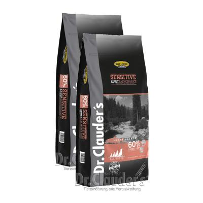 Sparpack! Dr.Clauder Best Choice Adult Lachs&Reis AllBreed | 2 x 12,5 kg