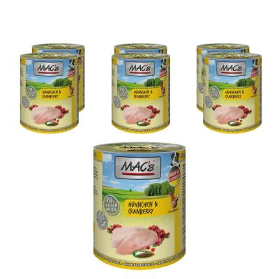Sparpack! MAC's Dog Hühnchen & Cranberry | 6 x 400g