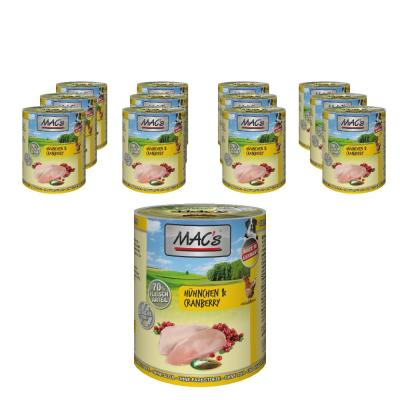 Sparpack! MAC's Dog Hühnchen & Cranberry | 12 x 400g