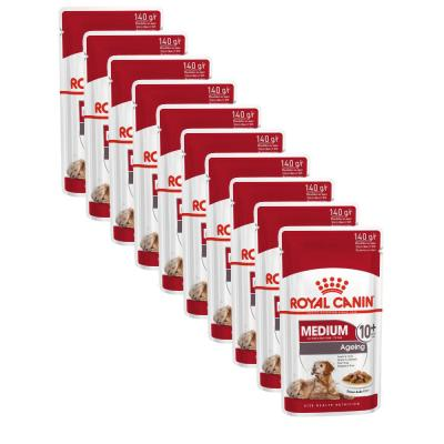 Sparpack! Royal Canin Medium Ageing 10+ in Soße | 10 x 140g
