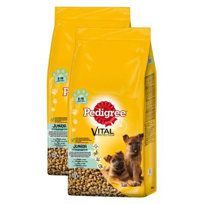 Sparpack! Pedigree Junior Maxi Huhn & Reis 2 x ...