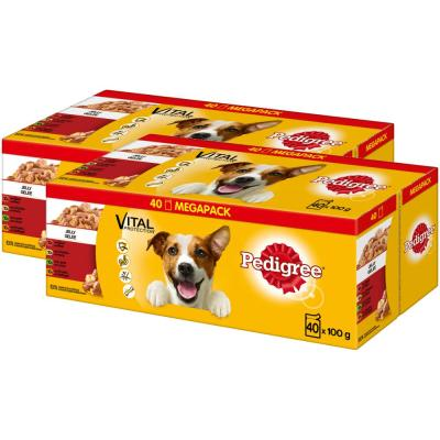 Sparpack! Pedigree Megapack Adult in Gelee | (2 x 40 =) 80 x 100g