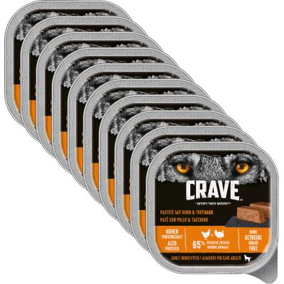 Sparpack! CRAVE Adult Pastete mit Huhn & Truthahn | 10 x 300g