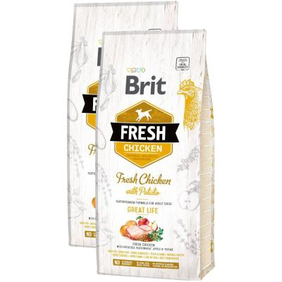 Sparpack! Brit Fresh Chicken Great Life | 2 x 12kg
