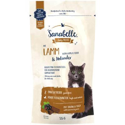 Sanabelle Cat Sticks | Lamm & Holunder 55g