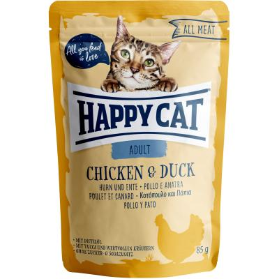Happy Cat All Meat Adult Huhn & Ente Pouch | 85g