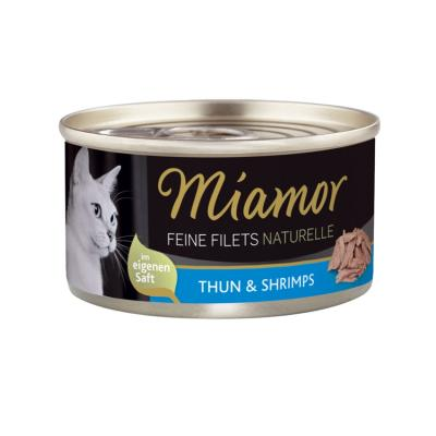 Miamor Feine Filets naturelle Thun & Shrimps 80g