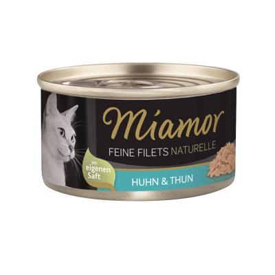 Miamor Feine Filets Naturelle Huhn & Thun 80g