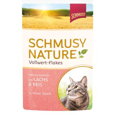 Schmusy Nature Vollwert-Flakes Lachs & Reis in ...