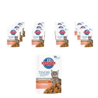 Sparpack! Hill´s Sterilised Cat Young Adult Lachs 12 x 85g