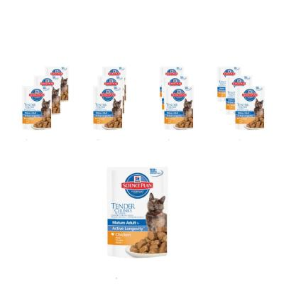 Sparpack! Hill´s Feline Mature Adult 7+ Huhn 12 x 85g