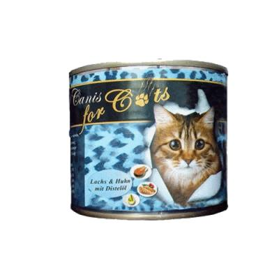 O´Canis for Cats mit Huhn, Lachs & Distelöl 200g