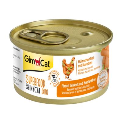 GimCat ShinyCat Superfood Duo Hühnchenfilet mit Karotten | 70g