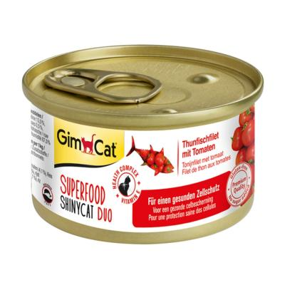 GimCat ShinyCat Superfood Duo Thunfischfilet mit Tomaten 70g