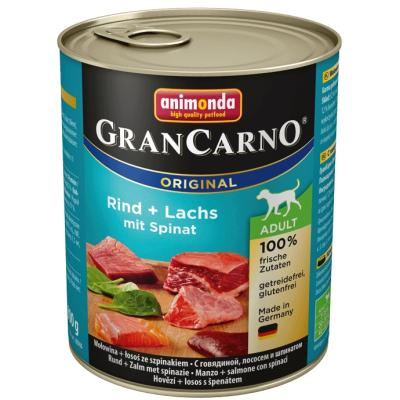 GranCarno Adult Rind + Seelachs mit Spinat 800g