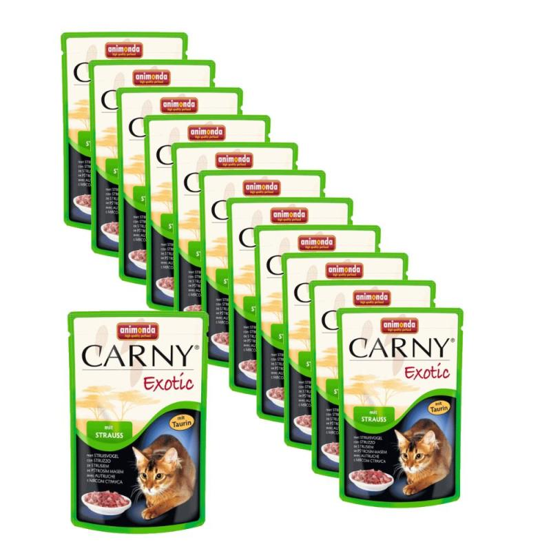 Sparpack! Animonda Carny Exotic Strauss | 12 x 85g