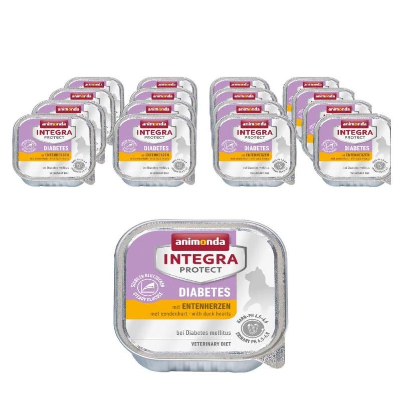 Sparpack! Animonda Integra Protect Diabetes mit Entenherzen | 16 x 100g