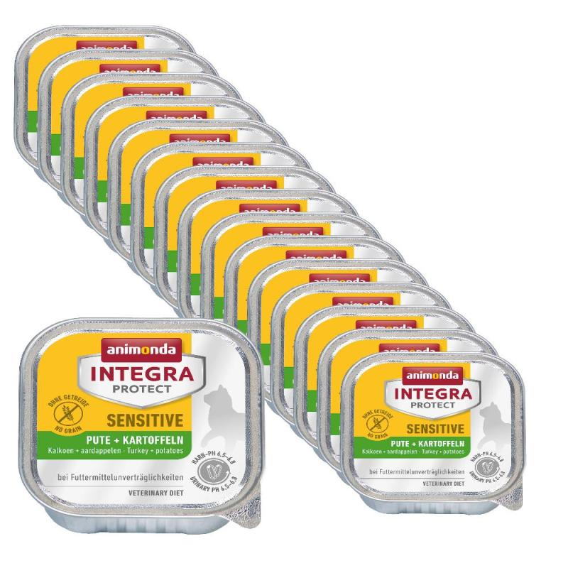 Sparpack! Animonda Integra Sensitive Pute & Kartoffeln | 16 x 100g