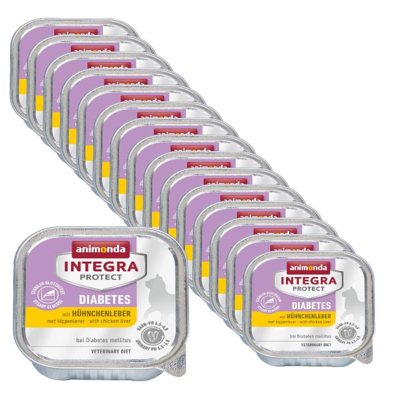 Sparpack! Animonda Integra Protect Diabetes mit Hühnchenleber | 16x100g