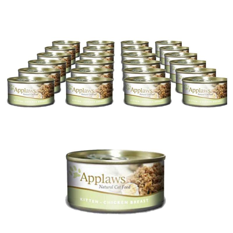 Sparpack! Applaws Dose Kitten mit Hühnchen | 24 x 70g