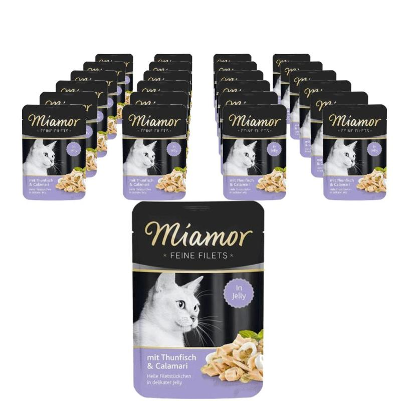 Sparpack! Miamor Feine Filets Thunfisch & Calamari in Jelly | 24 x 100g