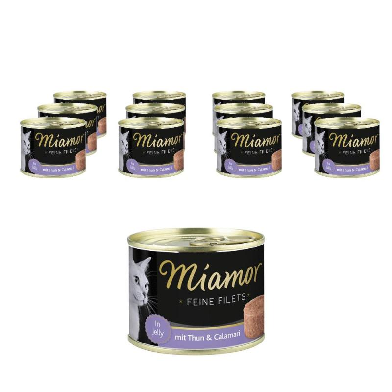 Sparpack! Miamor Feine Filets in Jelly Thun & Calamari | 12 x 185g
