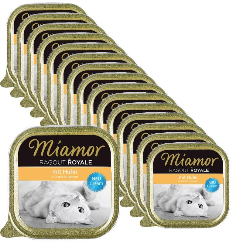 Sparpack! Miamor Ragout Royale Cream Huhn in Karottencream | 16x100g