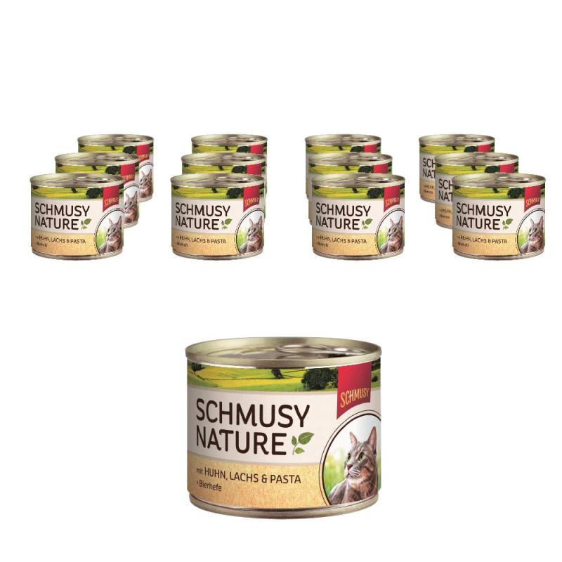 Sparpack! Schmusy Nature Huhn, Lachs & Pasta | 12 x 190 g