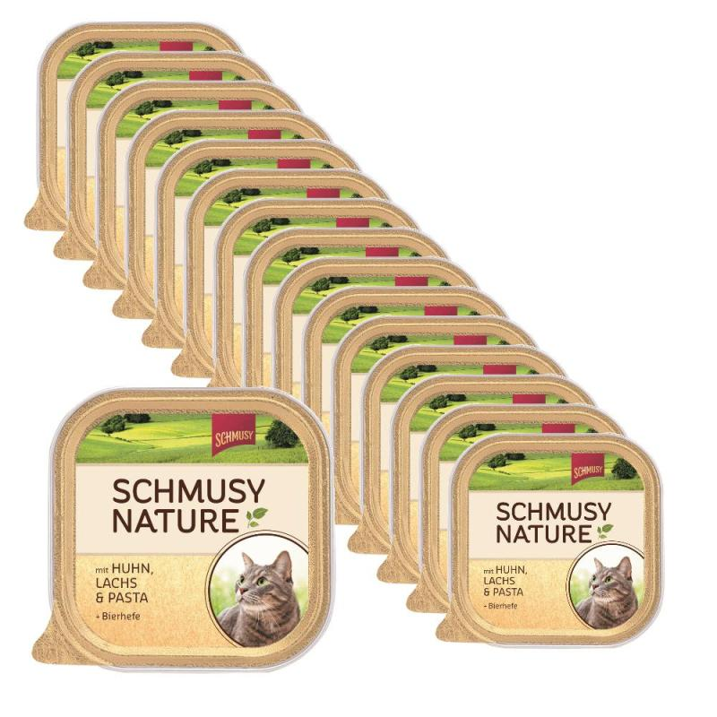 Sparpack! Schmusy Nature mit Huhn, Lachs & Pasta | 16 x 100g