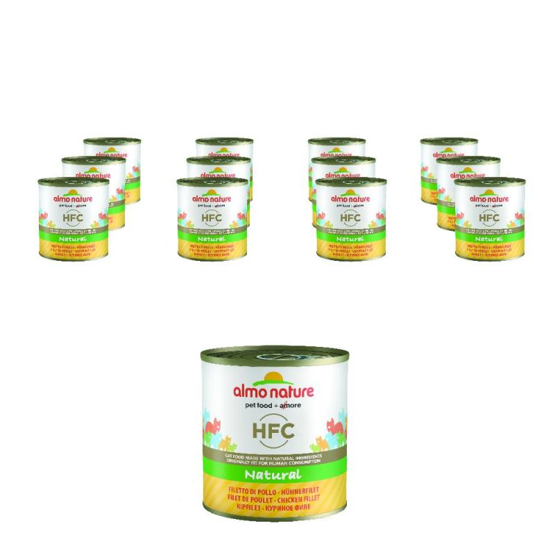 Sparpack! Almo Nature HFC Hühnerfilet | 12 x 280g