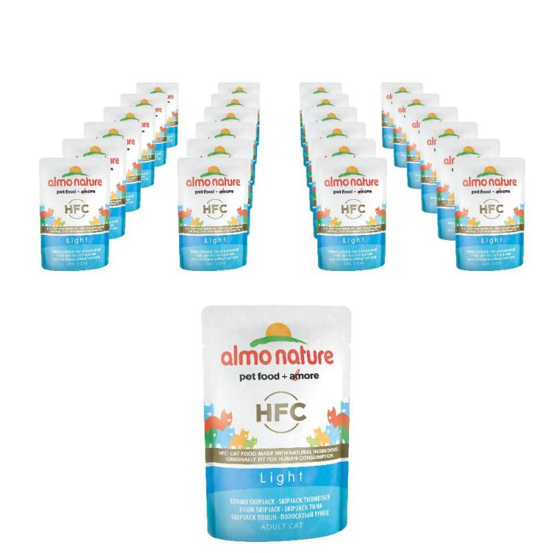 Sparpack! Almo Nature HFC Light Skipjack Thunfisch | 24 x 55g