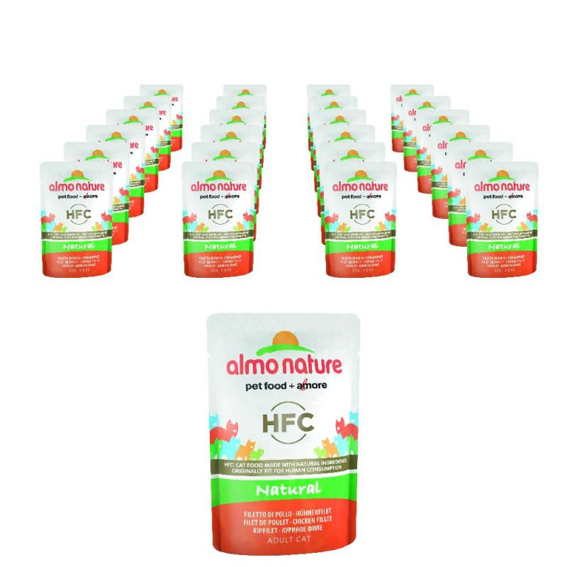 Sparpack! Almo Nature HFC Nature Hühnerfilet | 24 x 55g