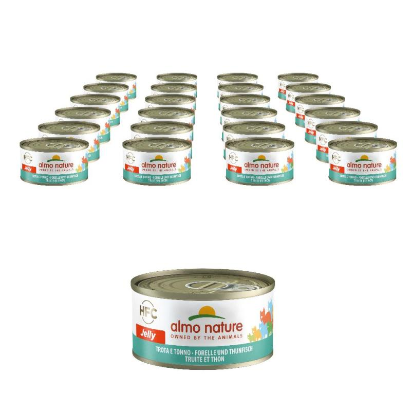 Sparpack! Almo Nature HFC Forelle & Thunfisch | 24 x 70g