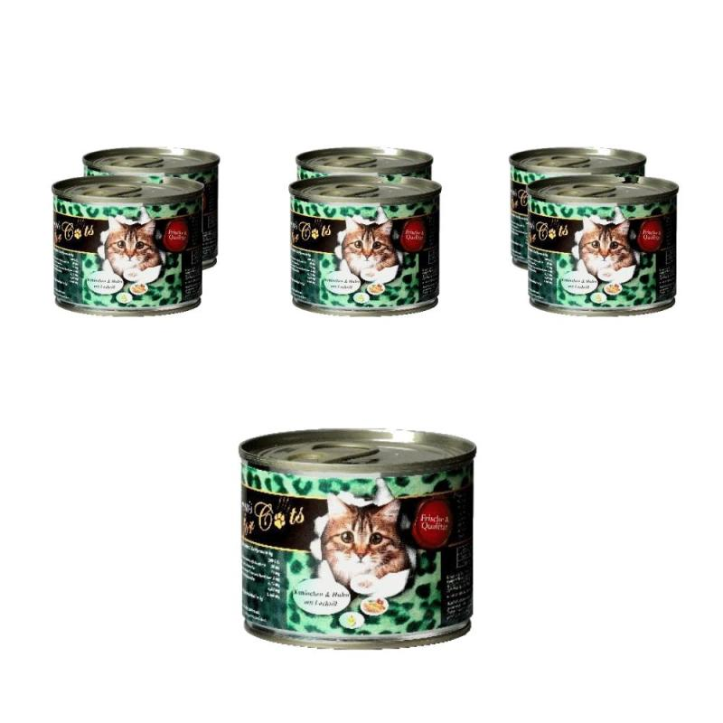 Sparpack! O'Canis for Cats mit Kaninchen, Huhn & Lachsöl | 6 x 200g