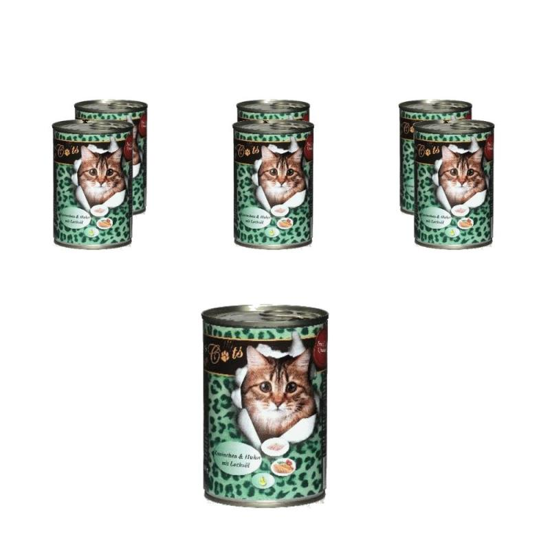 Sparpack! O'Canis for Cats mit Kaninchen, Huhn & Lachsöl | 6 x 400g