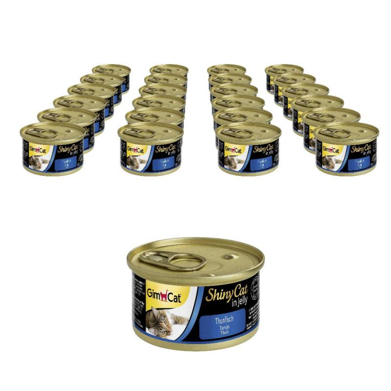 Sparpack! GimCat ShinyCat Thunfisch in Jelly | 24 x 70g