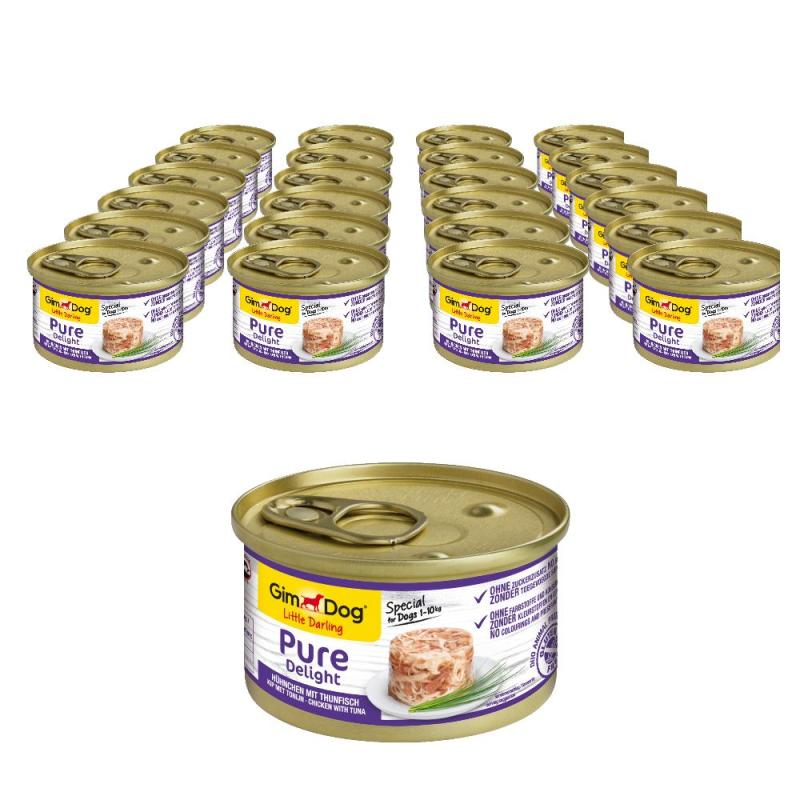 Sparpack! GimDog Pure Delight Hühnchen & Thunfisch | 24x85g