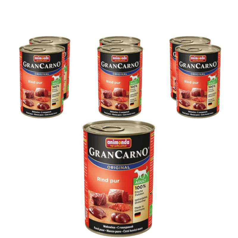 Sparpack! Animonda GranCarno Adult Rindfleisch pur | 6 x 400g
