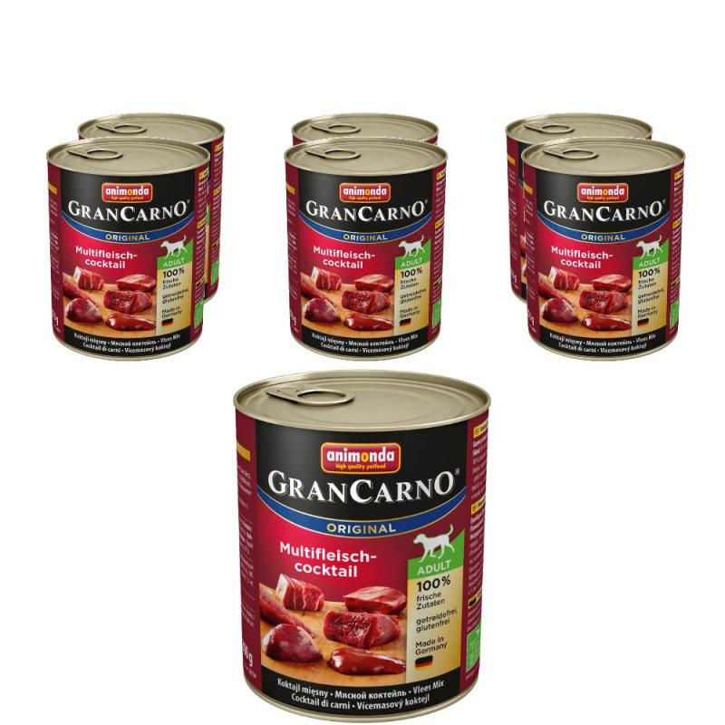 Sparpack! Animonda GranCarno Adult Multifleischcocktail | 6 x 800g