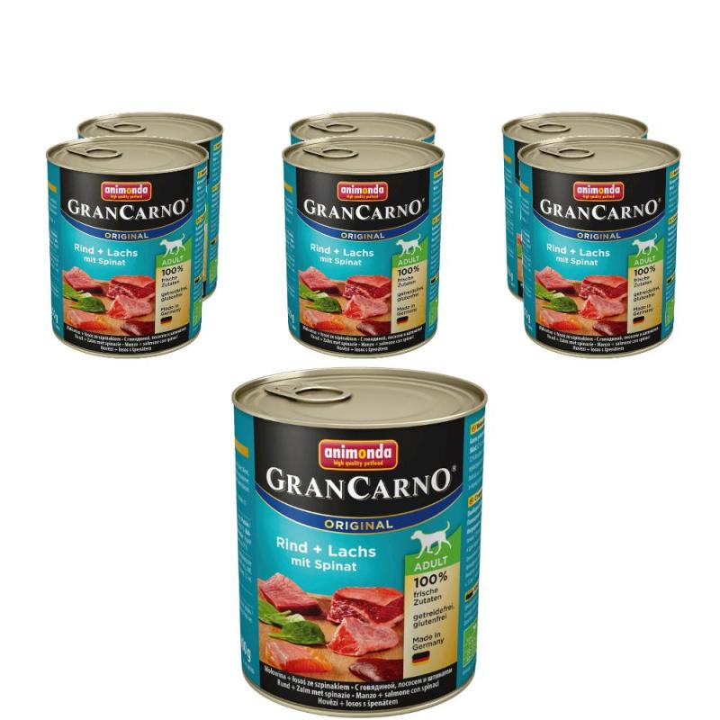 Sparpack! GranCarno Adult Seelachs & Spinat | 6 x 800g