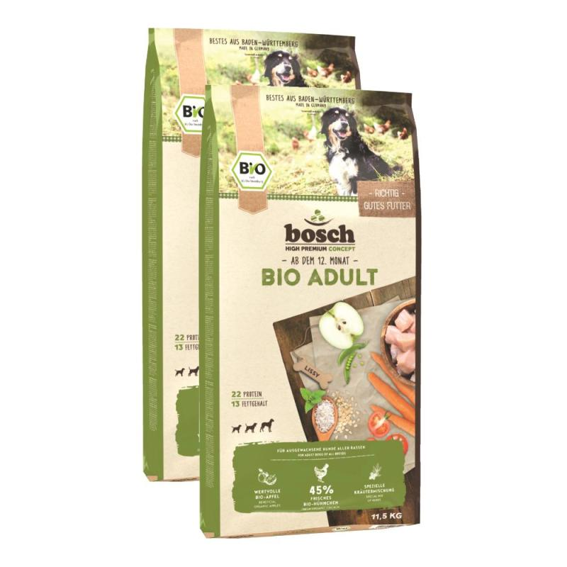 Sparpack! Bosch Bio Adult Hühnchen + Apfel | 2 x 11,5 kg