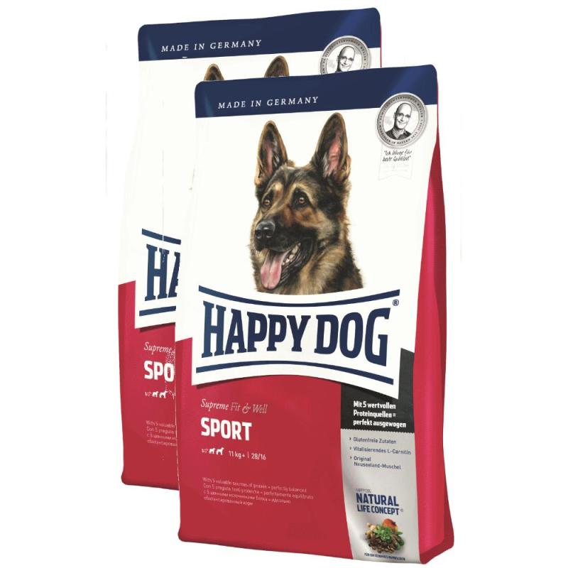 Sparpack! Happy Dog Fit & Well Adult Sport | 2 x 15kg