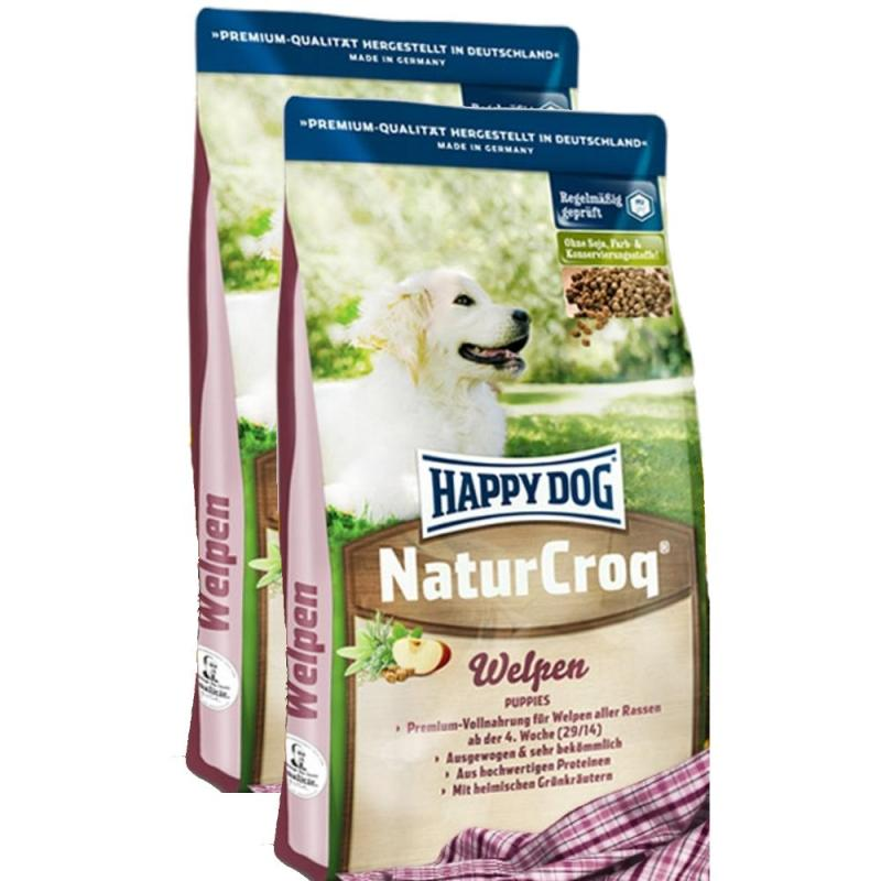 Sparpack! Happy Dog Natur-Croq Welpen | 2 x 15kg