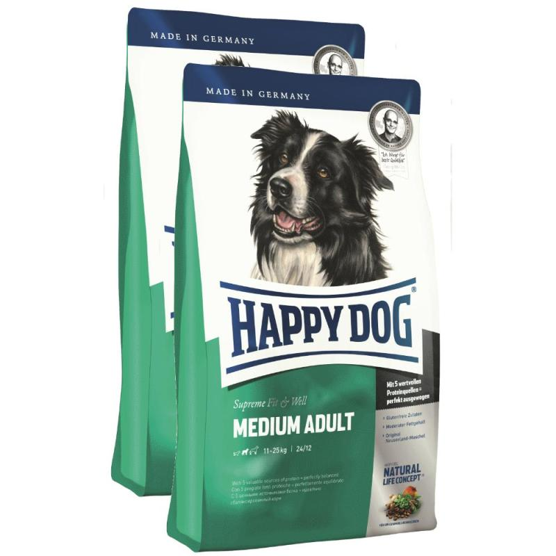 Sparpack! Happy Dog Fit & Well Adult Medium | 2 x 12,5kg