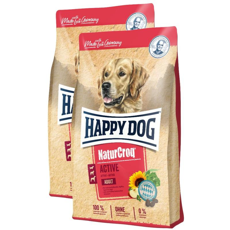 Sparpack! Happy Dog NaturCroq Active | 2 x 15kg