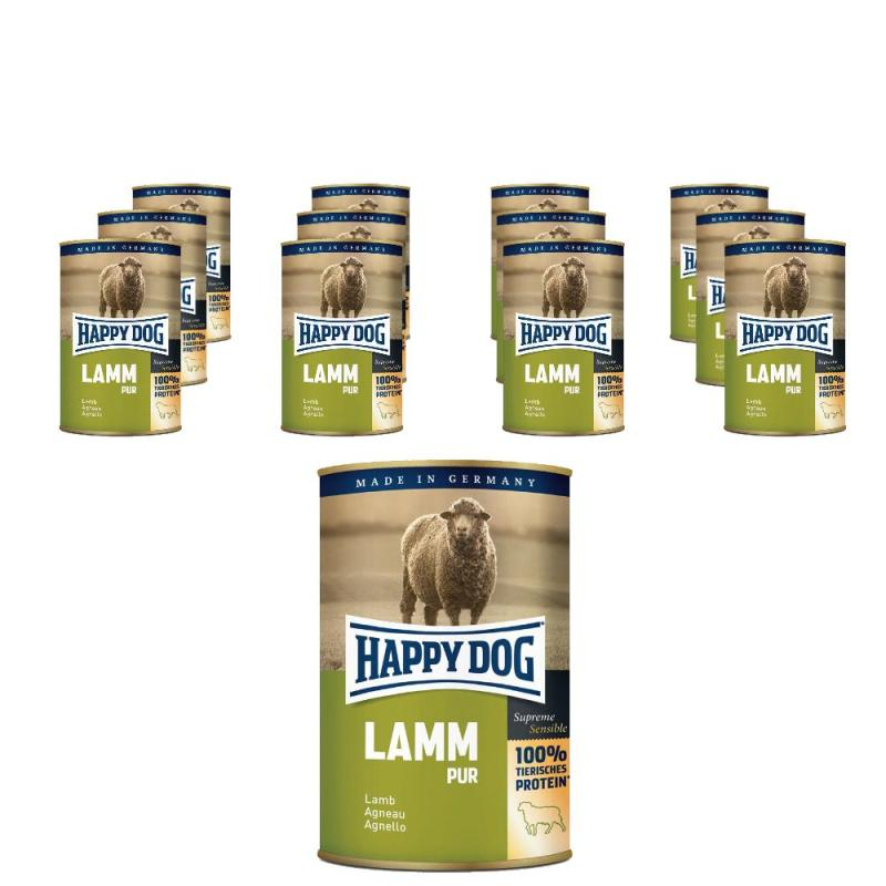 Sparpack! Happy Dog Lamm pur | 12 x 400g