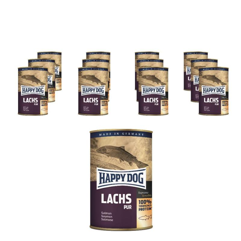 Sparpack! Happy Dog Lachs Pur | 12 x 400g