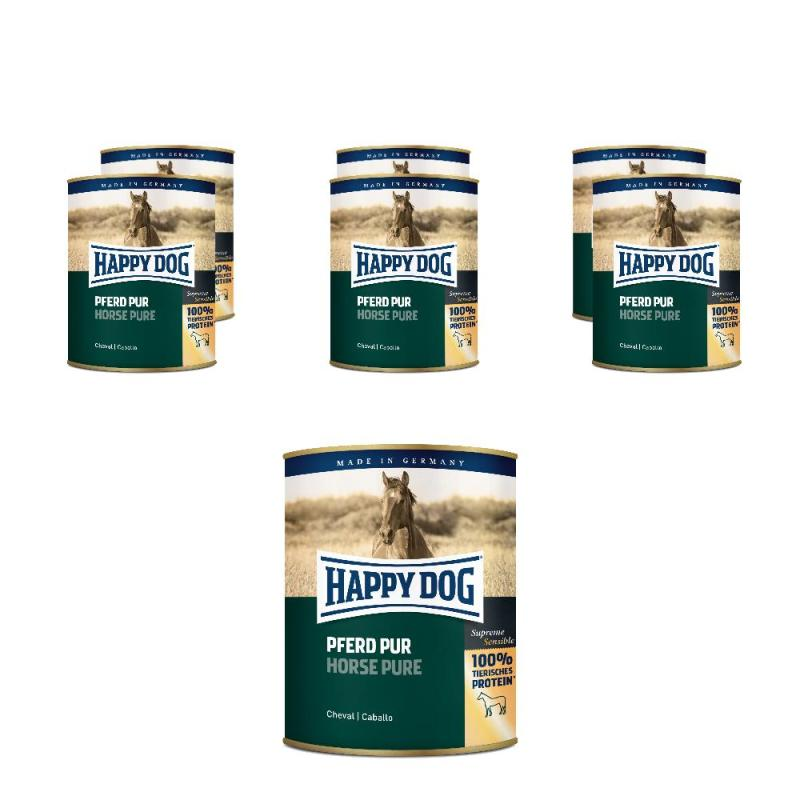 Sparpack! Happy Dog Dosen Pferd Pur | 6 x 800g