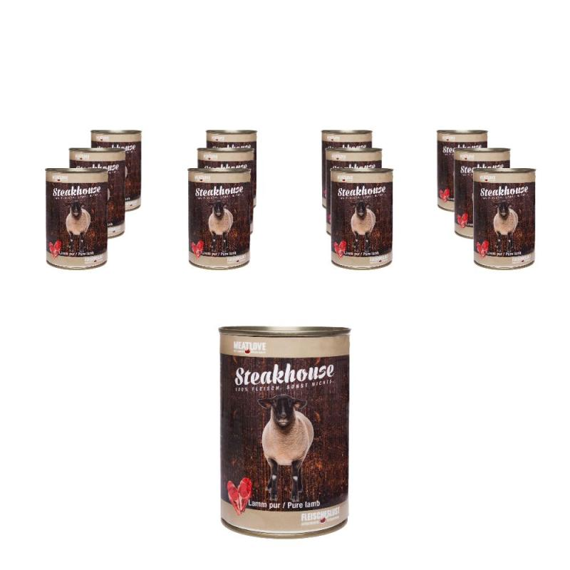 Steakhouse Lamm pur | 12 x 410g 10+2 Gratis!